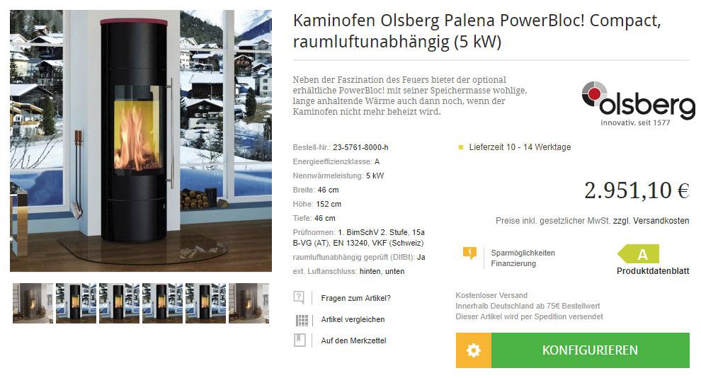 Kaminofen Olsberg Palena online kaufen in einem seriösen Online-Shop