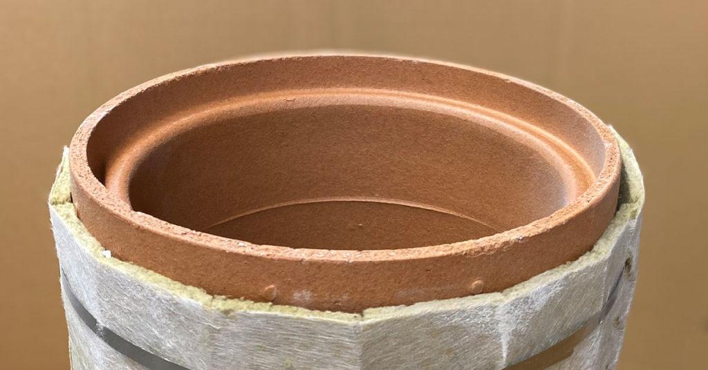 Schornsteintyp: Keramikschornstein - Abgasrohr mit Dämmung